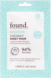 FOUND Coconut Sheet Mask